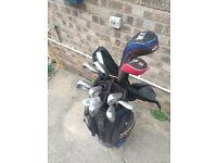 Complete Golf Set: Golf Cart Bag, Complete Callaway Irons Set (X9), Dr