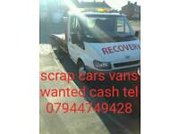 Cash cash cash paid for scrap car's van's