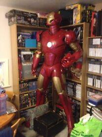 marvel iron man fullsize statue over 8ft on base, ex shop display, oxmox studios