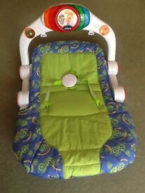 Chicco seat, with adjustable, can sit or lying down with safety belt, music and playing things
