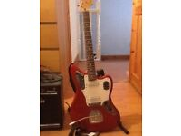 Squier Jaguar Candy Apple Red