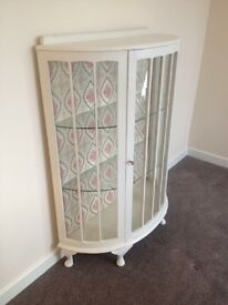 Stunning Vintage Upcycled Display Cabinet