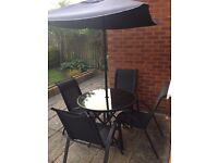 Outdoor garden table and chairs set