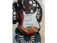 Electric guitar and case