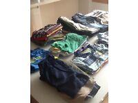 Large bundle of boys clothes age 12-18 months