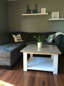 Weathered grey and white base x coffee table