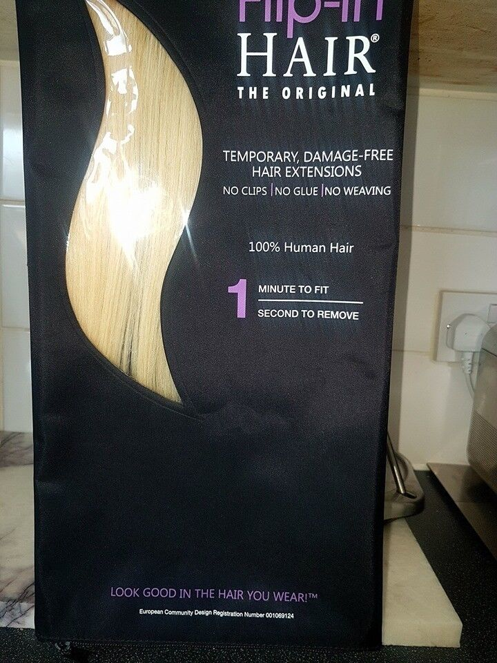 Original New Flip In Human Hair Extensions Light Blonde In