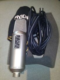 Microphone RODE NT2A + rode professional low noise microphone cable