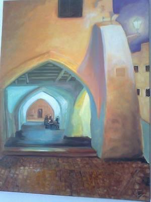 cuadro oleo sobre tela imagen menorca pintora JOANA CASASNOVAS CALAFAT 50x 70 cm segunda mano  Embacar hacia Argentina