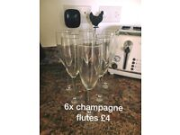 Champagne glasses (X6)