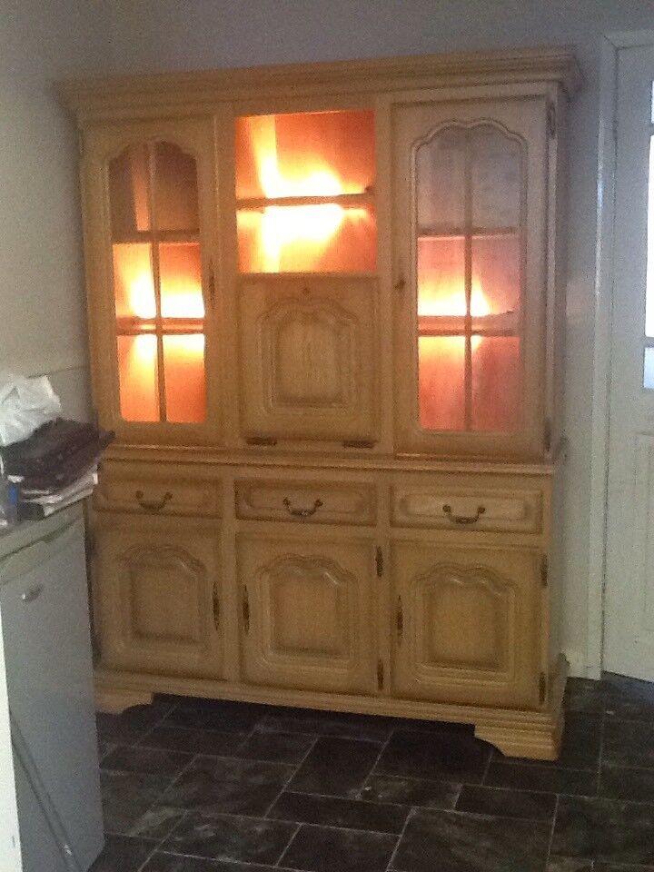 Wood & glass unit
