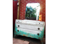An antique white dressing table
