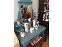 Beautiful Blue Painted Vintage Dressing Table
