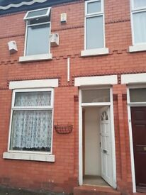 2 bed 2reception mid terraced house Carlton Av Rusholme Manchester