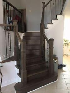 STAIRS! STAIRS! Hardwood Flooring Installation! Professional installation