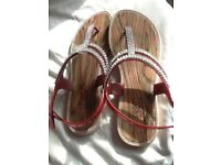 Ladies 1990 London glittery sandals, excellent conditon, size 38