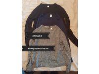 H&M jumper bundle, small - £10