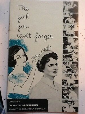 "Coca-Cola Litho Booklet 1957 Mint & Funny ""The Girl You Can't Forget""  LOOK!"