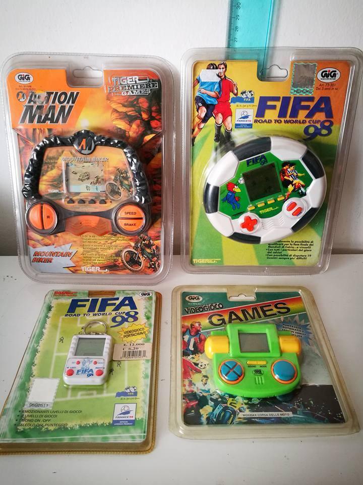 GIG TIGER GIOCHI ELETTRONICI VINTAGE TOYS ACTION MAN FIFA 98 VIDEOGIOCO GAMES