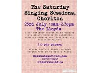 'The Saturday Singing Session' July 23rd The Lloyds 10-2:30pm