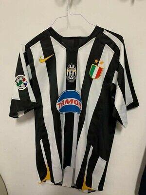 Maglia CALCIO JUVENTUS ⚽ ZEBINA ???????? Match worn issue SERIE A 2005 shirt maillot image