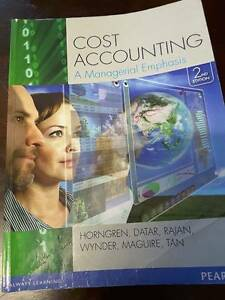 Cost Accounting A managerial emphasis 2nd edition Horngren Gilgai Inverell Area Preview