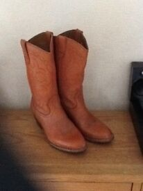 Vintage Leather Cowboy Boots size 7