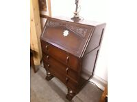 Vintage 1930's writing bureau Copley Mill Low Cost Moves 2nd Hand Furniture STALYBRIDGE SK15 3DN