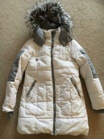 Girls white puffs coat age 12