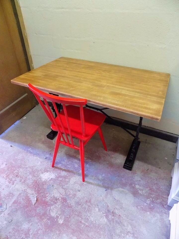 upcycled desk and chair