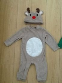M&S 9 -12 mths Christmas reindeer with hat