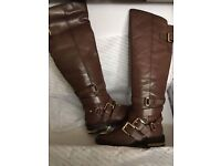 Two pairs of brand new Aldo leather boots size 3 black and brown £60 for both