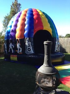 Disco Dome Jumping Castle-disco lighting and sounds system inside Brisbane South East Preview