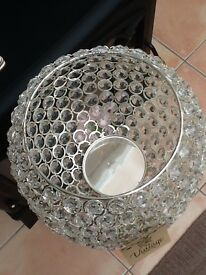 Crystal floor candle holder