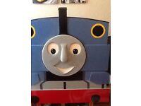 Handpainted Thomas the tank single headboard