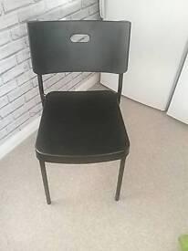 Black ikea chairs x 4