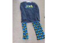 childs rebel batman fleece pajamas age 12-13 years