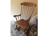 Bargain solid wood vintage rocking chair - will take offers!