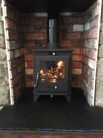 STICK ON BRICK AND STOVE BEAMS MANTEL reclaimed belfast brick for stove fireplace surround