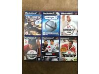 6 x PlayStation 2 Games
