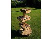 chainsaw carving book shelves