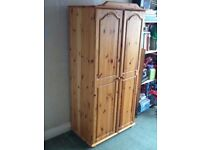solid pine wardrobe great condition