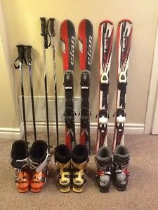 Junior Ski Boots and Skiis