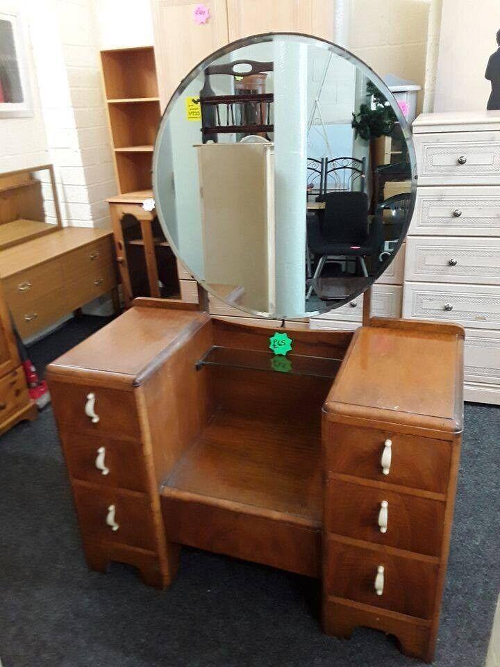Vintage Oak Dressing Table Set Copley, Mirrored Dressing Table Set Gumtree