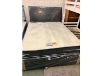 Brand New Double Divan Bed Base Headboard and Drawers in Black WHite and Grey Color