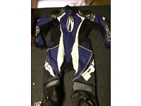 RICHA black blue & white leather biker suit- £120 collect fareham Po15