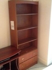 6ft6 X 2ft6 x1ft deep bookcase with 2 drawers