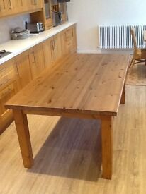 Ikea dining table, antique pine