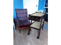 Vintage trolley / rocking chair