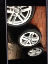 17inch Audi A4 S line Alloys With Good Tyres For Sale